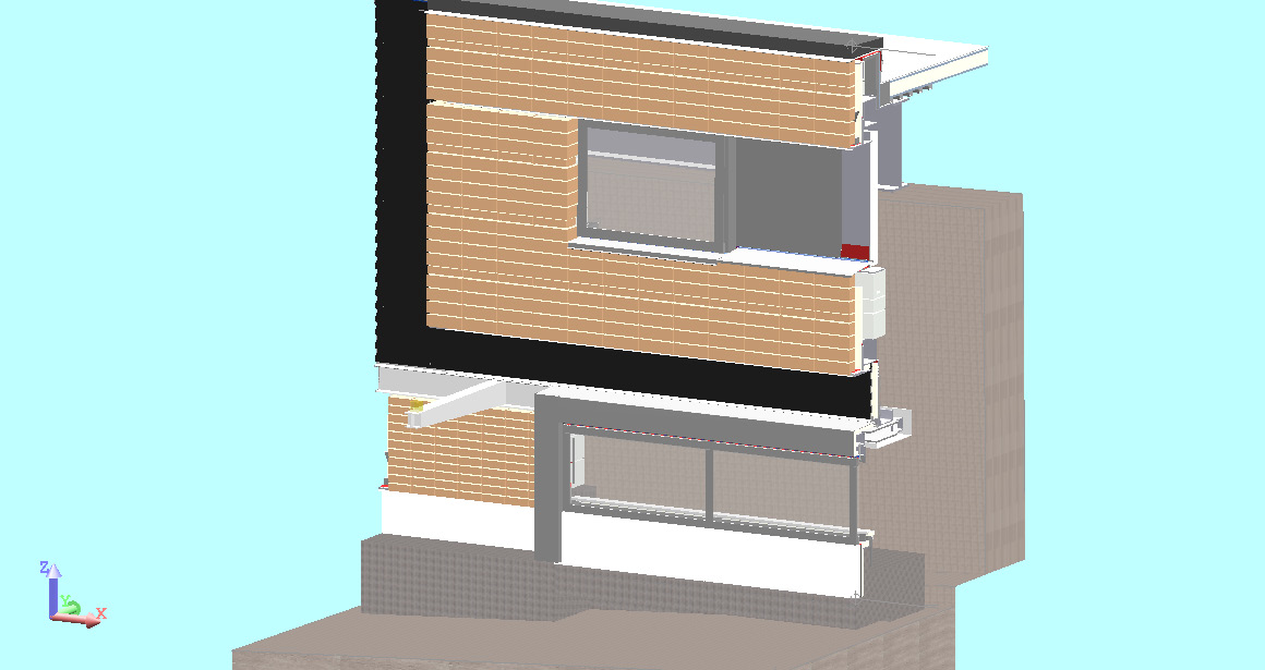 3D Model Of Architectiural Mock Up Wall